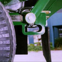 The Tie Down points conveniently located at the rear of the machine allow for quick tie do
