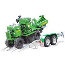SP7015 Stump Grinder loading onto Red Roo trailer
