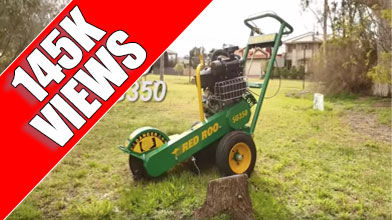 SG350 Stump Grinder with 145000 views on Youtube