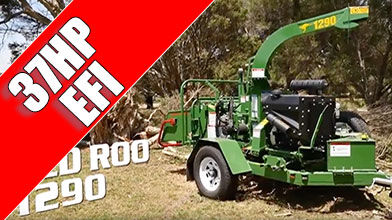 1290 Commercial wood Chipper with 37HP and EFI