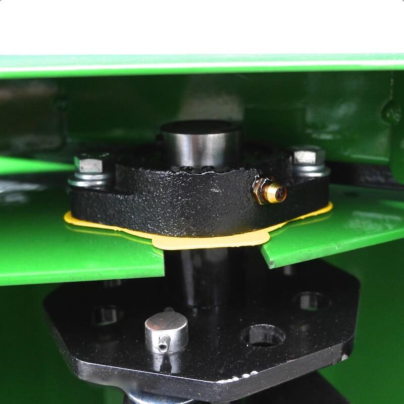 Heavy duty bearings and flail shaft