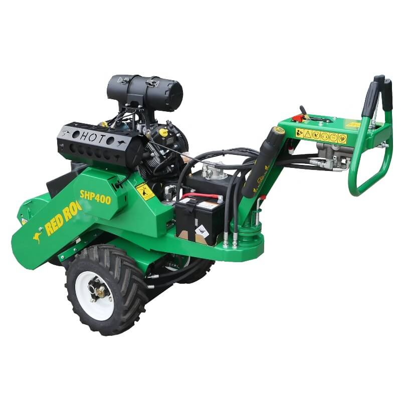 Red Roo SHP 400 Self Propelled Stump Grinder with independent wheel drive