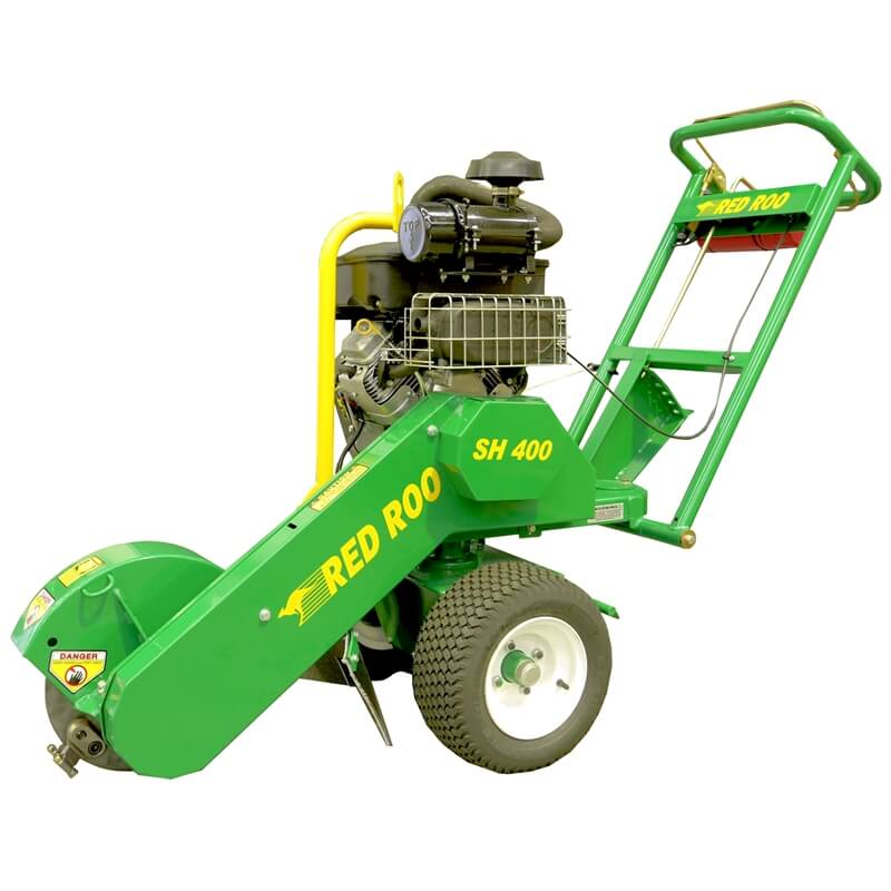 SH400 Pivot Over Center Stump Grinder on pallet