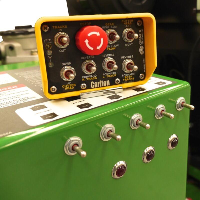 Wireless Control for Stump Grinder