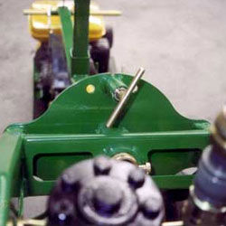 Spring loaded handle allows for drilling on slightly uneven terrain.