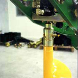 Remove Auger by simply pulling the pin.