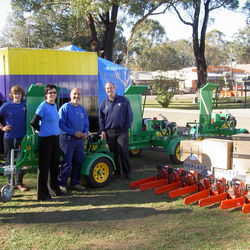 Rotarians Taking Delivery Of Red Roo HLS Logsplitters