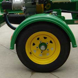 Rotationally Moulded Mud Guard & Radial Tyre
