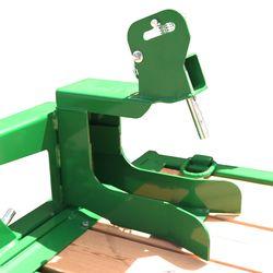 Trencher bracket mounted for easier trencher transportation
