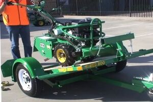 Tilt Trailer Equipment Trailer Hire A Rotary Hoe