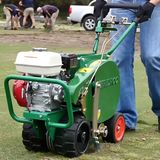 Turf cutting with the TC350, turf cutting made easy.