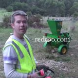 CMS80-Matts Mulcher Professional Chef Matt at his Eco Lodge using his new CMS80