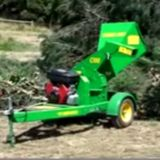 C100 Chipper in Action. The C100 is ideal for  a hobby farmer, small contractor, or rental company